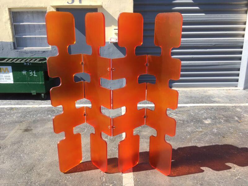 Crazy Lucite Plastic Screen Room Divider Design