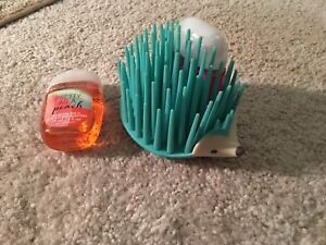 Hand sanitizers (brand new) and hedgehog holder