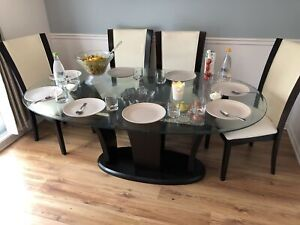 Dining table with coffee tables
