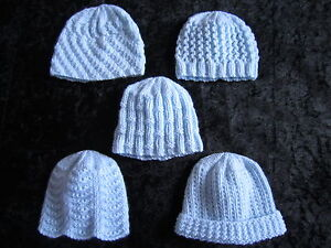 about Premature Small Baby Knitting Pattern For 5 Hats - 4 ply
