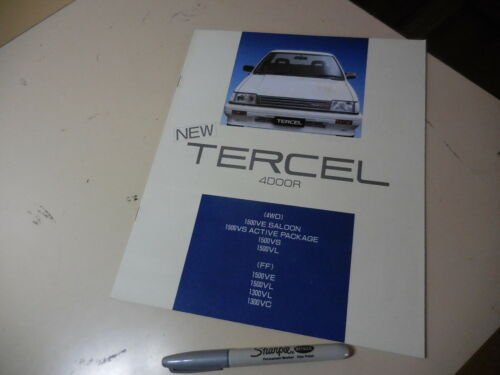 TOYOTA TERCEL Japanese Brochure 1986/05 AL25/21/20 2A-U 3A-U 3A-SU Corsa Soluna