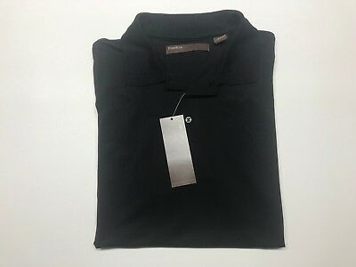 80% Rayon 20% Polyester (PERRY ELLIS POLO SHIRT BLACK 80% RAYON 20% POLYESTER XXL FITS LIKE L)