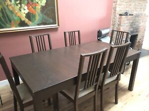 Dining Room Set (Ikea)  Table + 6 Chairs