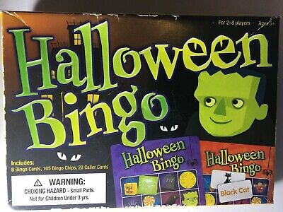 Childrens Halloween Party Games (Halloween Bingo Game for Kids 5+ Halloween Party)
