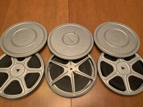 Lot of 3, home movies ,vintage 8mm, 7 in.reels, 1950