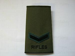 Rifles Olive Rank Slides - British Army / Military