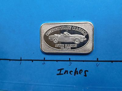 ASTON MARTIN VOLANTE CONTINENTAL COIN  999 SILVER BAR COIN VERY RARE COOL #3