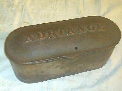 Original Antique Vintage 1800s Adriance Tool Box Toolbox Horse Drawn Cast Iron.