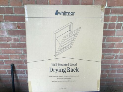 Whitmor Wall Mount Wood Drying Rack NEW in Box