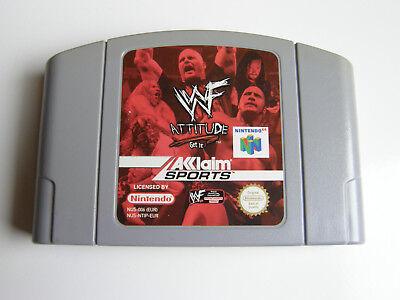 WWF Attitude - cartridge (NL PAL EUR) N64 Nintendo 64