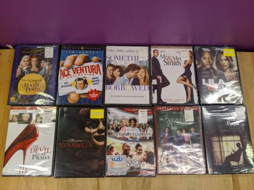 New Lot of (10) Dvds Ace Ventura Annabelle Lila & Eye The Breakfast Club