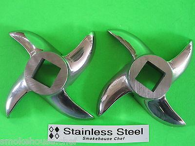 Two Knife Blades For Stx Turboforce Megaforce 3000 4000 Electric Meat Grinder