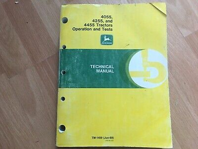 John Deere 4055 4255 4455 Tractor Factory Technical Operation Test Manual Tm1459