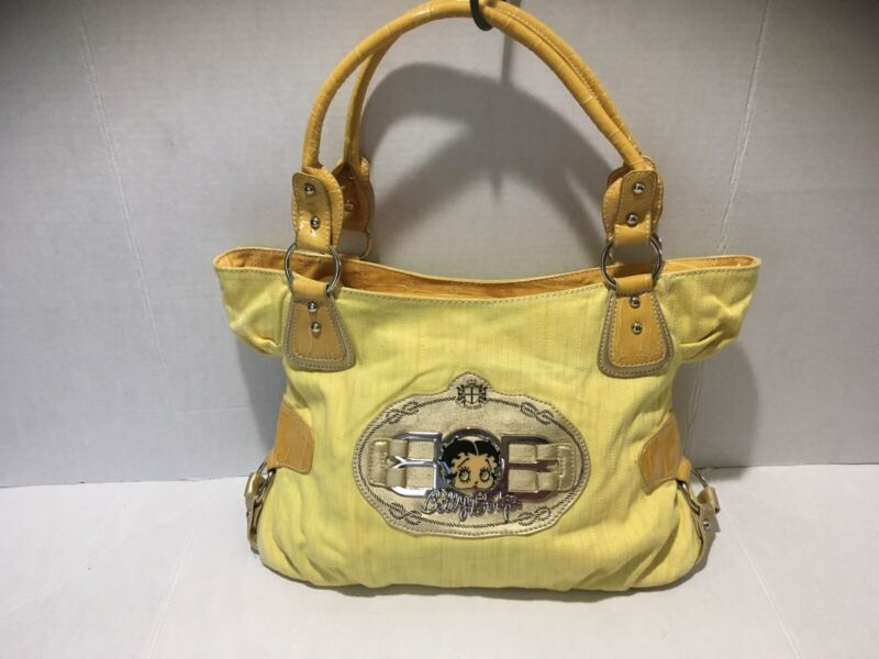 Betty Boop Hobo Hangbag Purse Yellow