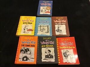 Diary of a wimpy kid volumes 2,4,6,7,9,10,11
