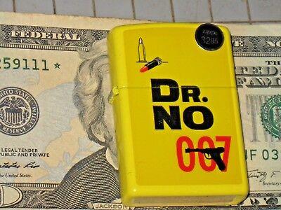 New Windproof USA Zippo Lighter 29566 Dr No 007 James Bond Spy Lemon Yellow Case