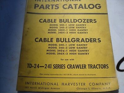 International Te-9 Cable Bulldozers Parts Catalog For Td24 Series