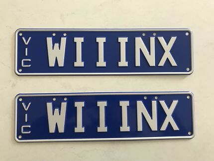 Wanted: WINX Number Plates WIIINX ( 3 Cox Plate Wins)