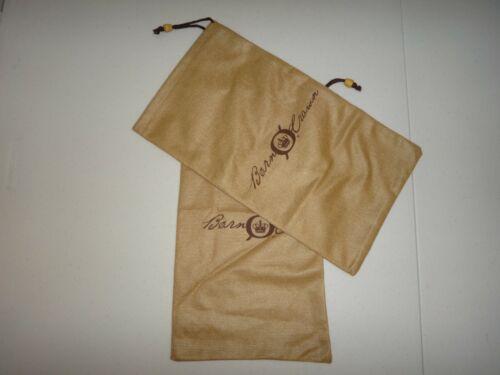 """Born Crown 2-PC SET Tan Brown Soft Drawstring Shoe Bag Storage Dust Bags 14 x 8"""""""
