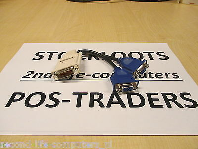 MOLEX 887-6852-00 1x DMS-59 To Dual 2x VGA Splitter Cable - Monitor Video PC