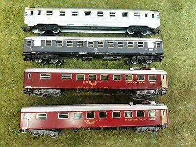 Marklin ho wagon voyageur Pack / lot de 4 - 4076 + 4068 + 4063