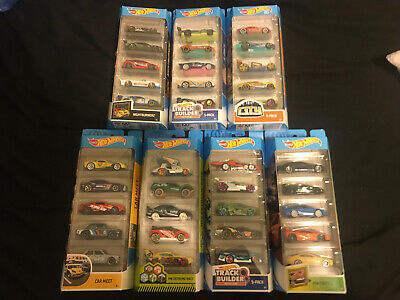 NEW Hot Wheels 5 Pack Cars Lot of 7 Various Packs Sealed Unopened Car Meet