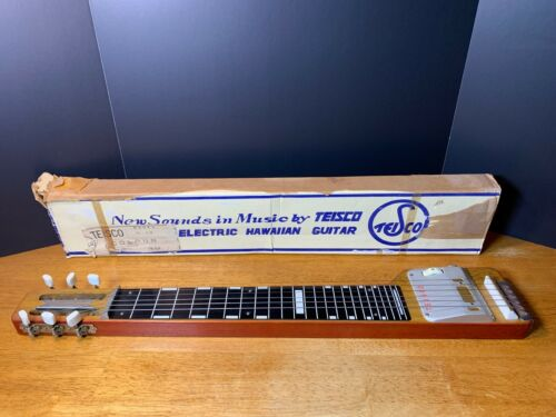 60's Teisco H39 lap steel electric guitar H-39 gold foil pickup - Original Box