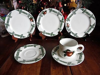6 PC THE CADES COVE COLLECTION BY CITATION APPLES SALAD PLATES SAUCERS CUP Cades Cove Dinnerware