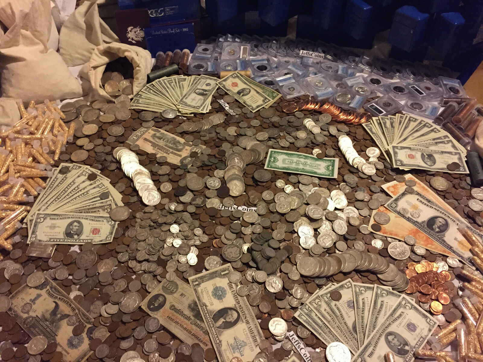Купить ✯ESTATE LOT OLD US COINS $✯GOLD .999 SILVER BARS BULLION✯ MONEY HOARD PCGS✯SALE✯