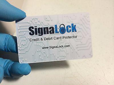 4 pack Signalock Blue Debit & Credit Card Protector RFID creates a signal vault