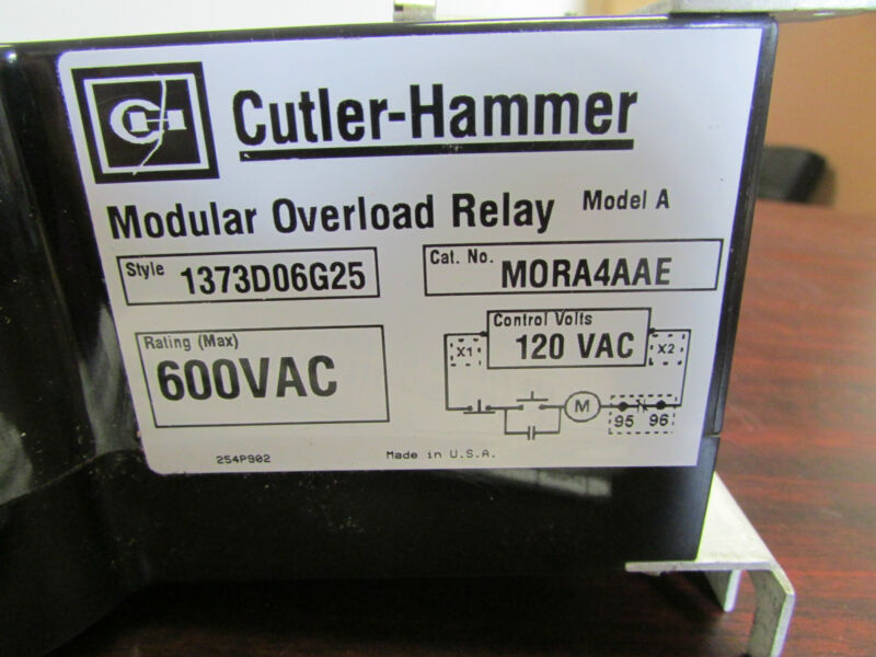 Eaton Cutler Hammer westinghouse M0RA4AAE Modular Overload Relay 600 Vac