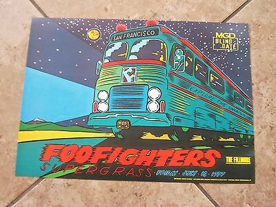 original 1997 FOO FIGHTERS  CONCERT TOUR POSTER  @ the Fillmore. s.f.