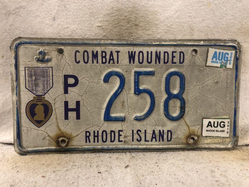 2010 Rhode Island  Purple Heart License Plate