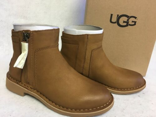 UGG Australia REA Chestnut LEATHER SHEEPWOOL CHELSEA ANKLE B