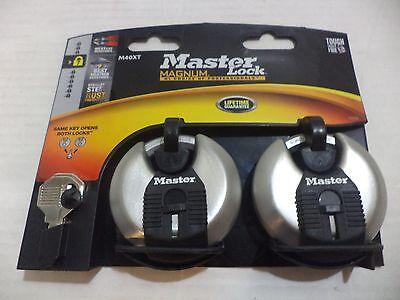 Masterlock M40xtccsen 2pk 2-34 Disc Padlock Locks Safes Locksmith Same Key