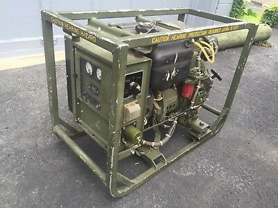 MILITARY MEP-501A DIESEL POWERED ENGINE GENERATOR SET 2KW 28VDC