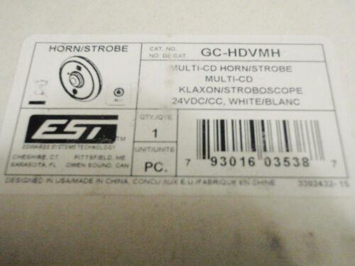 EST Edwards GC-HDVMH Multi CD Ceiling Mount Horn Strobe in White