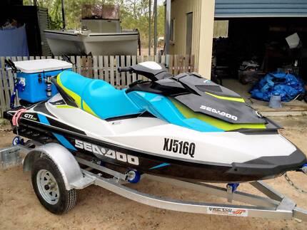 2015 Seadoo GTI 130 IBR + Depth Sounder, Fishing Esky-Drive Away Idalia Townsville City Preview