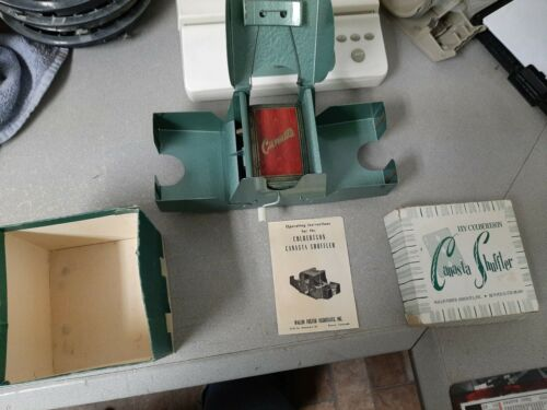 1958 Canasta Shuffler, Metal Card Shuffler with Original Box and Cards