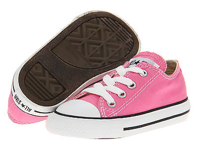 Pink Toddler Converse Shoes (Converse All Star Low Tops Pink OX Toddler Infant Baby Kids Shoes)