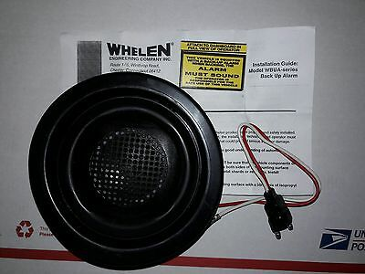 Brand New Rare Whelen Gromet Mount 97db 12vdc Back Up Alarm W Pigtail Bracket