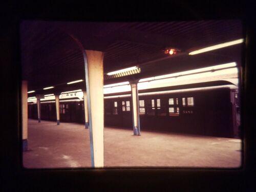 IV10 TRAIN Slide * Vintage 5483 Subway at Platform