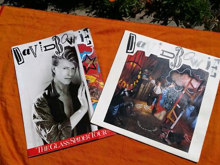 David Bowie's 'Never Let Me Down' album & Glass Spider tour book