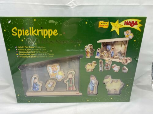 Haba nativity play scene The Christmas Spielkrippe Made in Germany sealed
