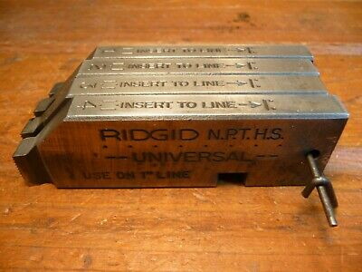 Ridgid 18 Pipe Threader Bolt Dies Die Set Used Universal N.p.t.h.s.