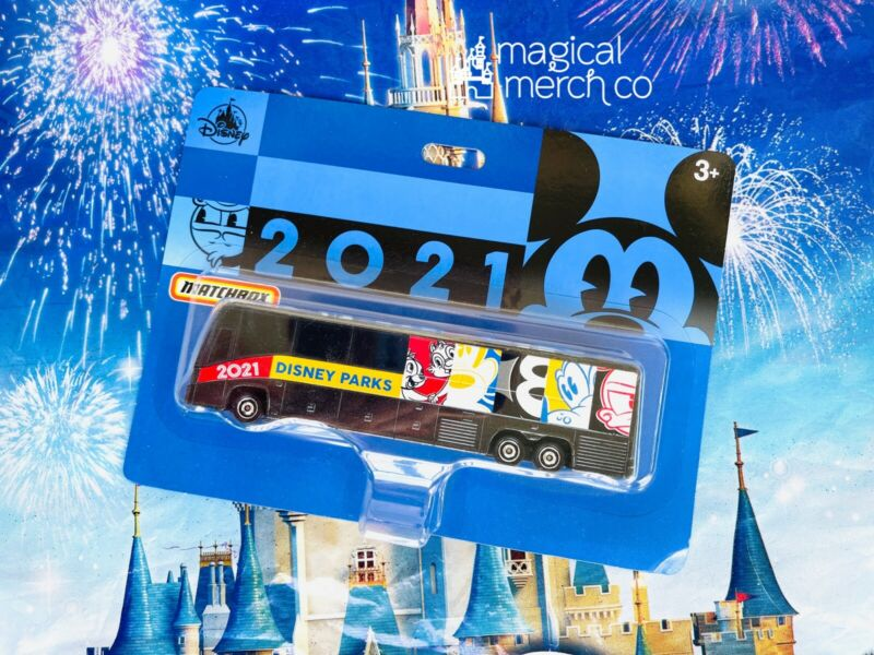 2021 DISNEY PARKS MATCHBOX BUS NEW IN PACKAGE WALT DISNEY WORLD