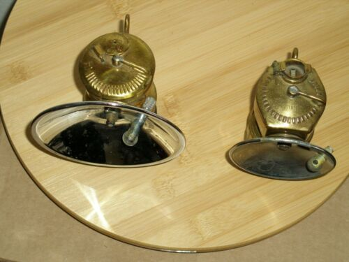 BUTTERFLY TRADE MARK & JUSTRITE Carbide Lamp w/extra reflectors 4 and 7 1/4 inch