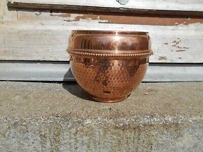 Vintage French copper planter/ jardiniere/plant pot Villedieu