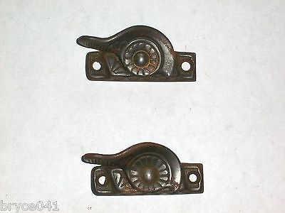 Antique Eastlake Widow Sash Lock Levers