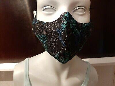 Cooler-Harry Potter- Mund-Nasen-Schutz/Maske/BW -Masken Gr. XL (UNIKAT-Erw.)